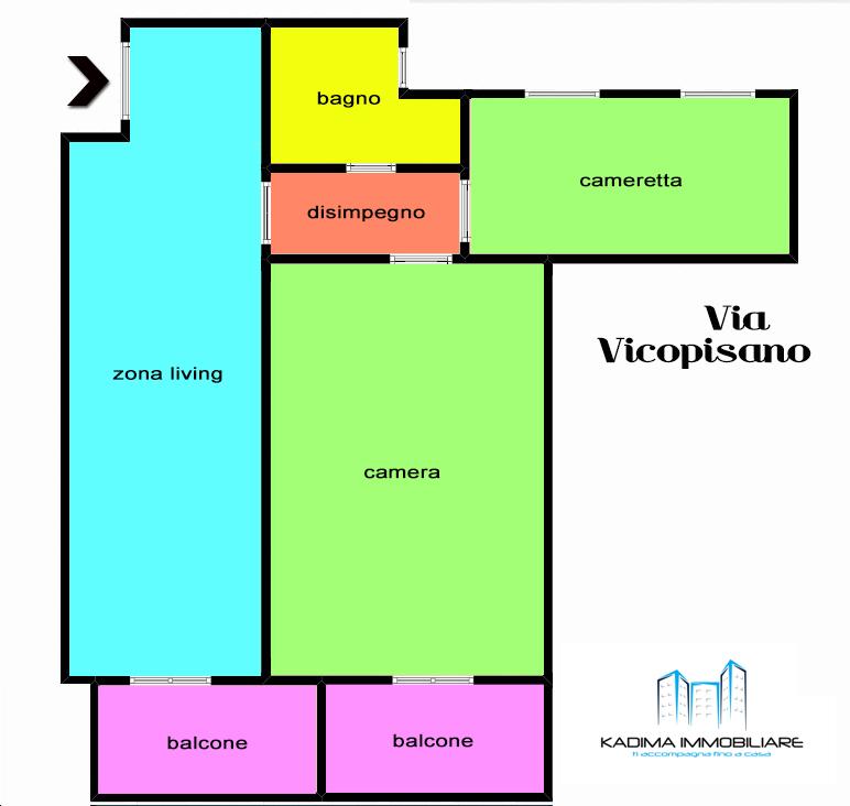 App.to Magliana – Vicopisano